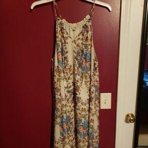 Lucky Brand hi low floral sundress size XL